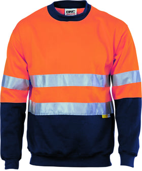 HiVis Two Tone Fleecy Sweat Shirt Crew Neck