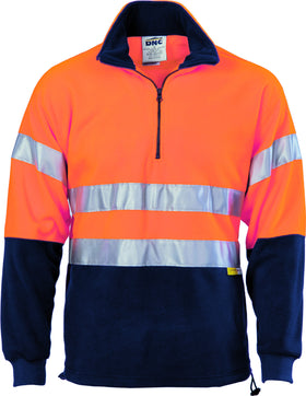 HiVis Two Tone 1/2 Zip Polar Fleece With Tape