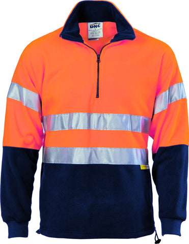 Picture of HiVis Two Tone 1/2 Zip Polar Fleece With Tape