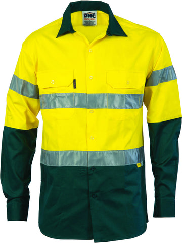 Picture of HiVis Two Tone Drill Long Sleeve With Reflective Tape