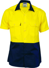 HiVis Two Tone Cool-Breeze Cotton Short Sleeve