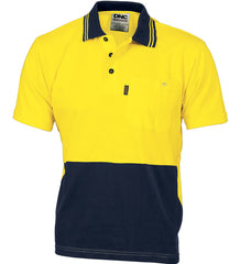 HiVis Cool-Breeze Cotton Short Sleeve Jersey Polo Shirt With Under Arm Cotton Mesh