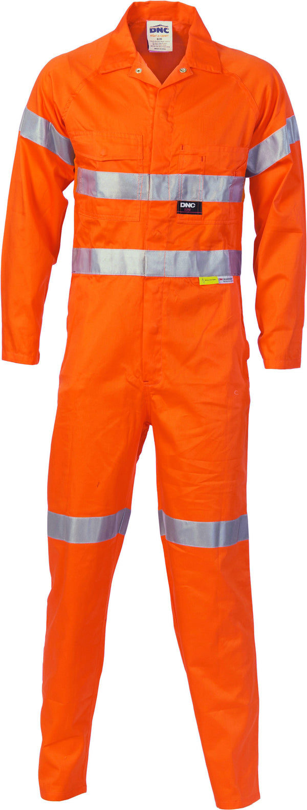 HiVis Cotton Overall With 3M Reflective Tape