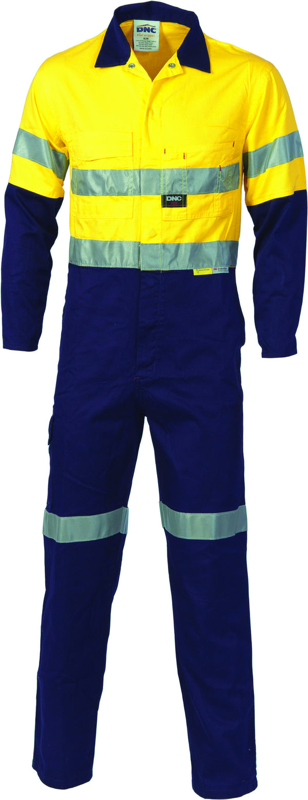HiVis Two Tone Cotton Coverall With 3M Reflective Tape