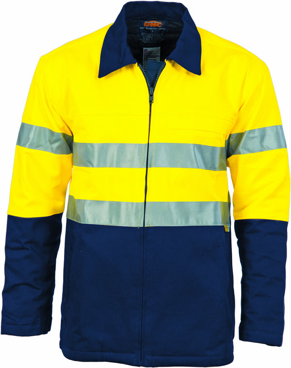 HiVis Two Tone Protection Drill Jacket With 3M Reflective Tape