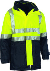 "HiVis ""4 in 1"" Two Tone Breathable Jacket With Vest & Reflective Tape"