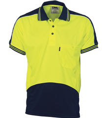 DNC HiVis Cool Breathe Panel S/S Polo Shirt