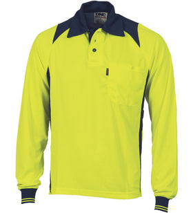 DNC Cool Breathe Action Long Sleeve Polo