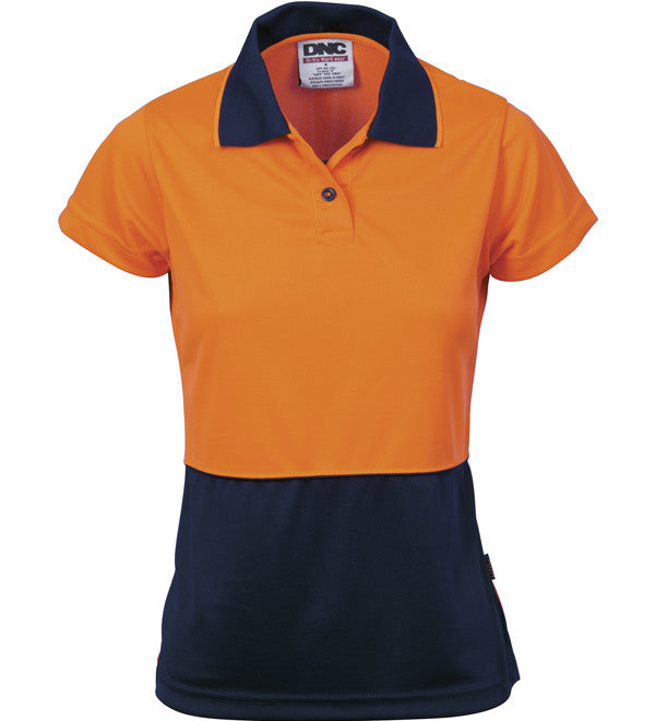 DNC Ladies HiVis Two Tone S/S Polo