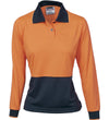 Ladies HiVis Two Tone Long Sleeve Polo Shirt