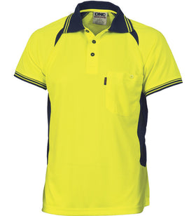 DNC Cool-Breeze Contrast Mesh S/S Polo - Mens & Ladies