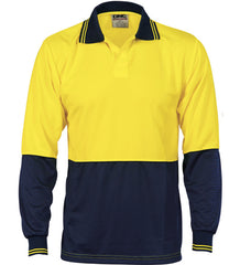 DNC HiVis Two Tone Food Industry L/S Polo