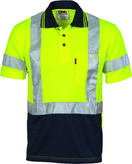 Hivis D/N Cool Breathe Short Sleeve Polo Shirt With Cross Back R/Tape