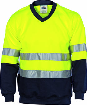 HiVis Two Tone Sweat Shirt V-Neck