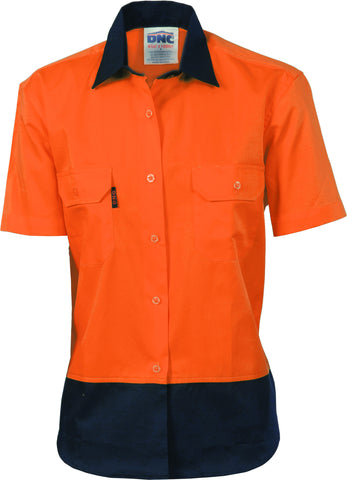 Picture of Ladies HiVis Two Tone Cool-Breeze Cotton Short Sleeve