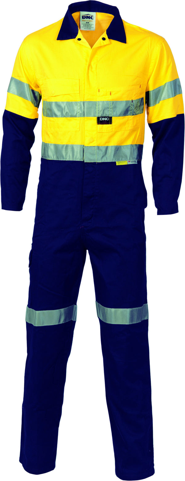 HiVis Cool-Breeze Two Tone Lightweight Cotton Coverall With 3M Reflective Tape