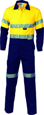 Picture of HiVis Cool-Breeze Two Tone Lightweight Cotton Coverall With 3M Reflective Tape