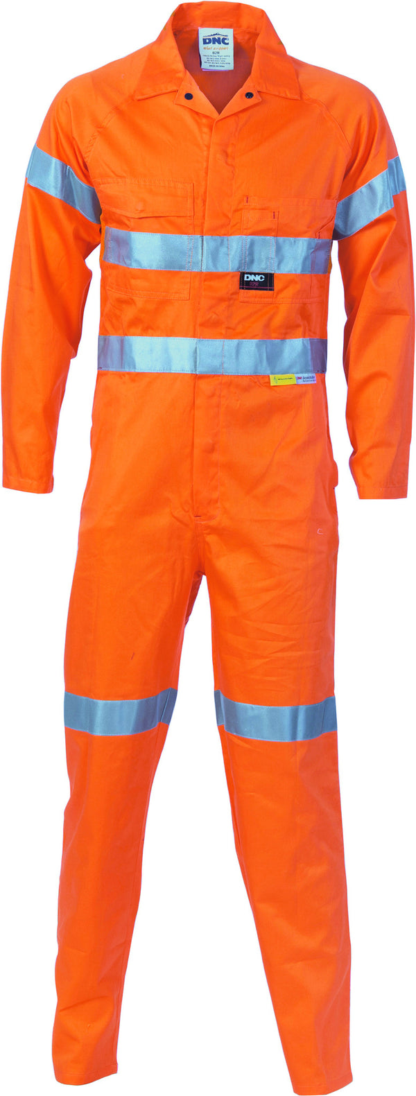 HiVis Cool-Breeze Orange Leightweight Cotton Coverall With 3M Reflective Tape