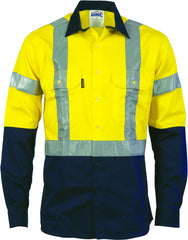 HiVis D/N Vented Drill Long Sleeve with Generic Reflective Tape