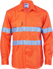 HiVis Cool-Breeze Vertical Vented Cotton Long Sleeve With Genereic Reflective Tape