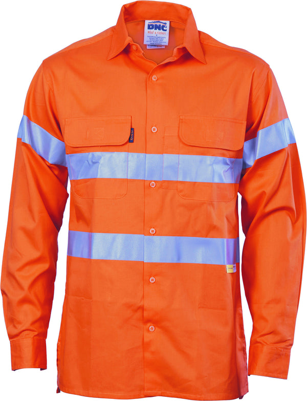 HiVis Cool-Breeze Cotton Long Sleeve With 3M 8906 Reflective Tape