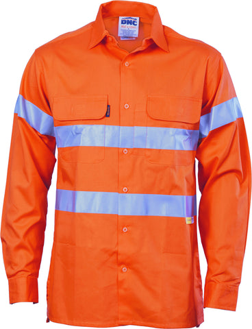 Picture of HiVis Cool-Breeze Cotton Long Sleeve With 3M 8906 Reflective Tape
