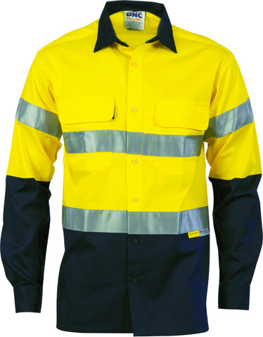 Picture of HiVis Two Tone Cool-Breeze Cotton Long Sleeve With Reflective Tape