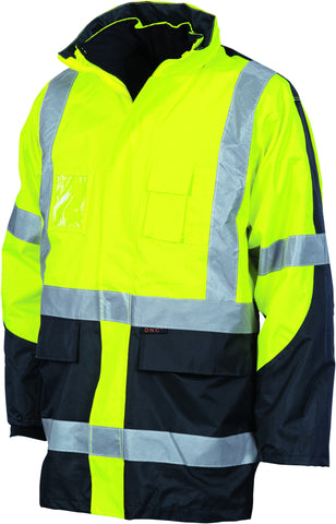 "Picture of HiVis Cross Back Two Tone D/N ""6 in 1"" Contrast Jacket"