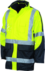 "HiVis Cross Back Two Tone D/N ""6 in 1"" Contrast Jacket"