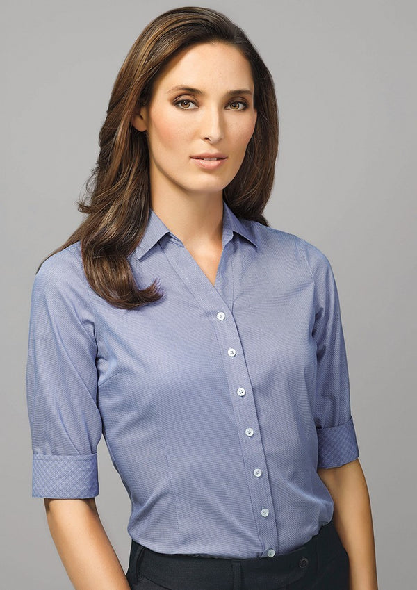 Ladies Hudson 3/4 Sleeve Shirt