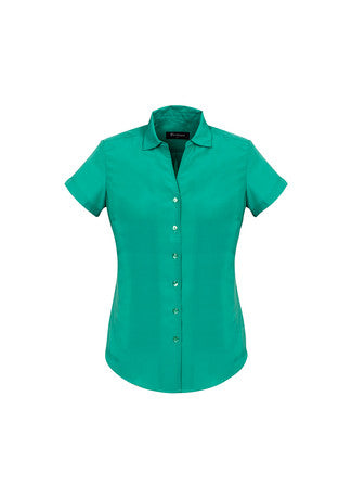 Picture of Ladies Solanda Plain Short Sleeve Shirt