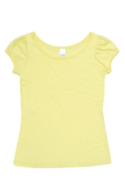Ladies American Style Puff Sleeve T-Shirt