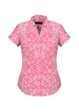 Picture of Ladies Solanda Print Short Sleeve Shirt