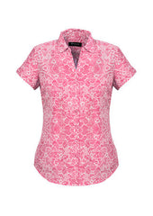 Ladies Solanda Print Short Sleeve Shirt