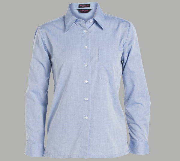 NSW Polocrosse Ladies Cotton Chambray L/S Shirt