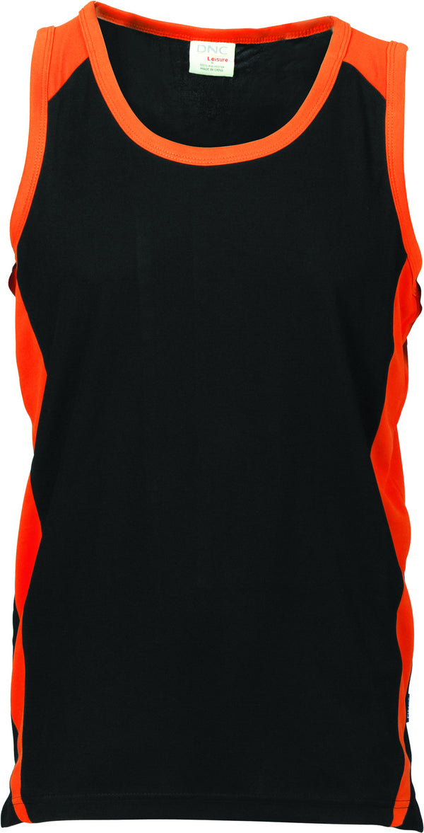 Adults Unisex Cool Breathe Contrast Singlet