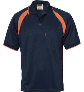 DNC Cool Breathe Contrast Short Sleeve Polo
