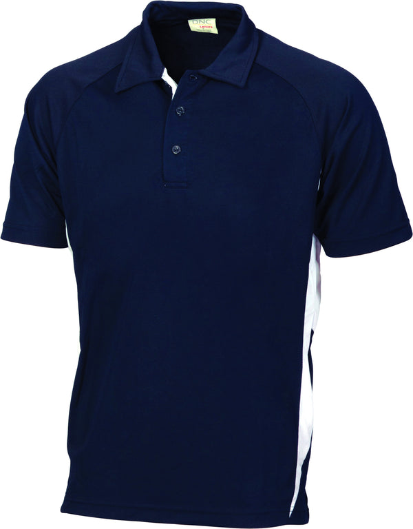 Adult Unisex Cool Breathe Side Panel Polo Shirt