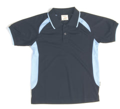 Kids Air Flow Contrast Raglan Mesh Polo