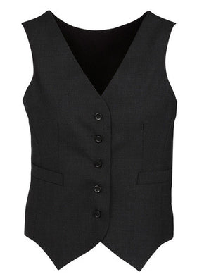 Ladies Comfort Wool Knitted Back Peaked Vest
