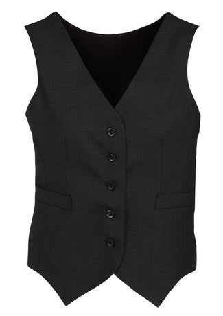 Picture of Ladies Comfort Wool Knitted Back Peaked Vest