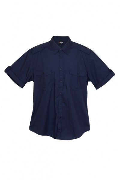 Mens Short Sleeve Military Shirt