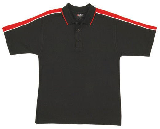 Mens Shoulder Panel Polo Shirt