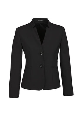 Ladies Comfort Wool Reverse Lapel Short Jacket