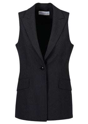 Ladies Longline Sleeveless Jacke