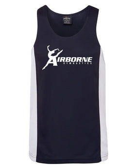 Airborne Gymnastics Adults Contrast Singlet
