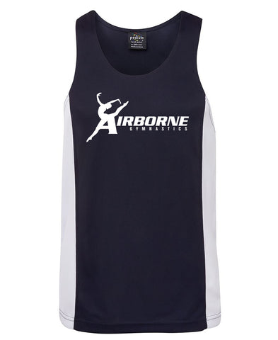 Picture of Airborne Gymnastics Adults Contrast Singlet