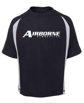 Airborne Gymanstics Point Poly Tee