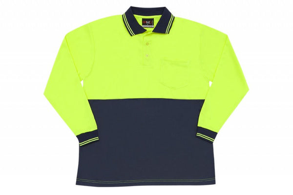 Mens HiVis Long Sleeve Polo