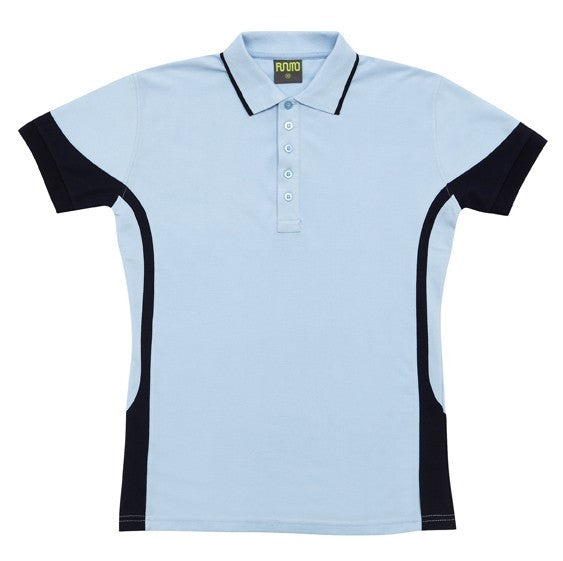 Mens Fine Cotton/Poly Contrast Polo